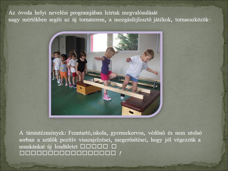 Az óvoda helyi nevelési programjában leírtak megvalósulását