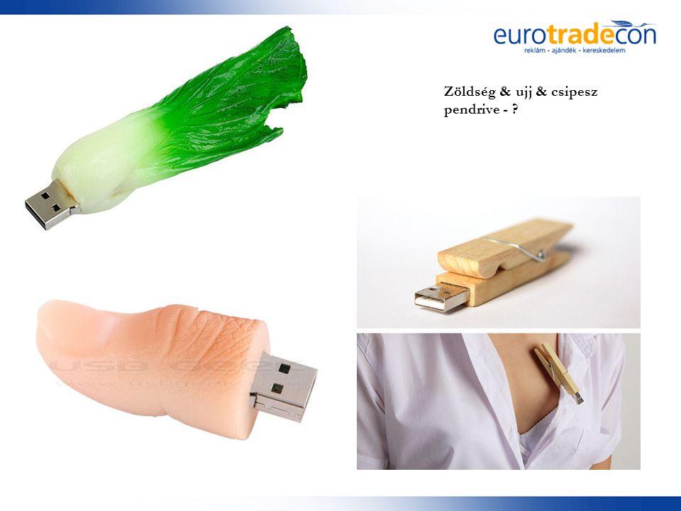 Zöldség & ujj & csipesz pendrive -