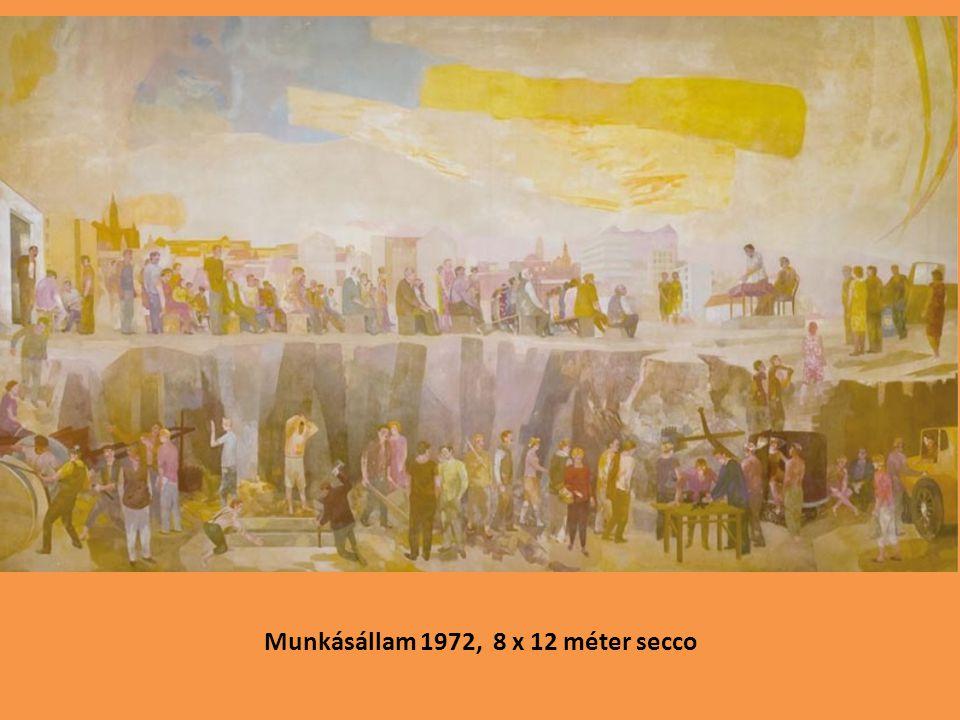 Munkásállam 1972, 8 x 12 méter secco