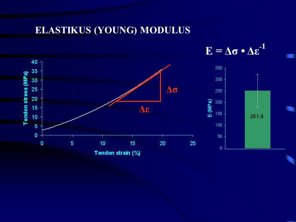 E = Δσ • Δε-1 ELASTIKUS (YOUNG) MODULUS Δσ Δε