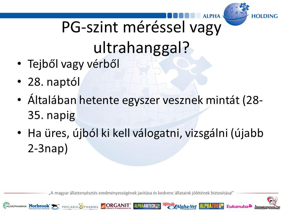PG-szint méréssel vagy ultrahanggal