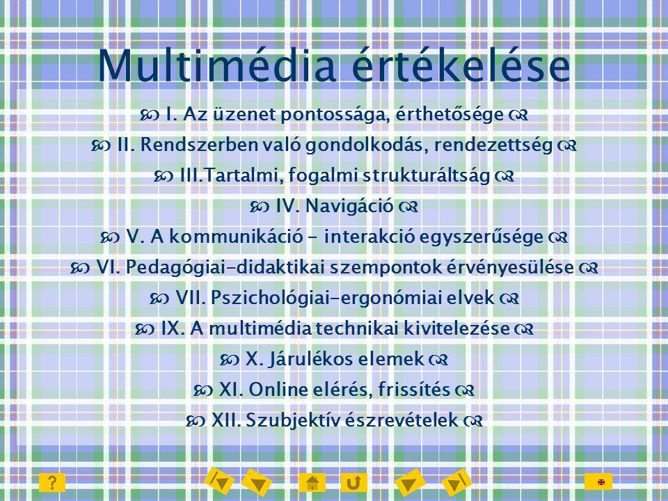 Multimédia értékelése