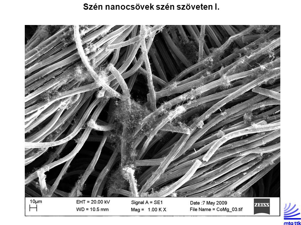 Szén nanocsövek szén szöveten I.