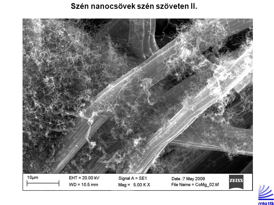 Szén nanocsövek szén szöveten II.