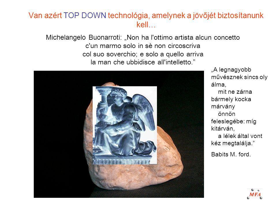 Van azért TOP DOWN technológia, amelynek a jövőjét biztosítanunk kell…