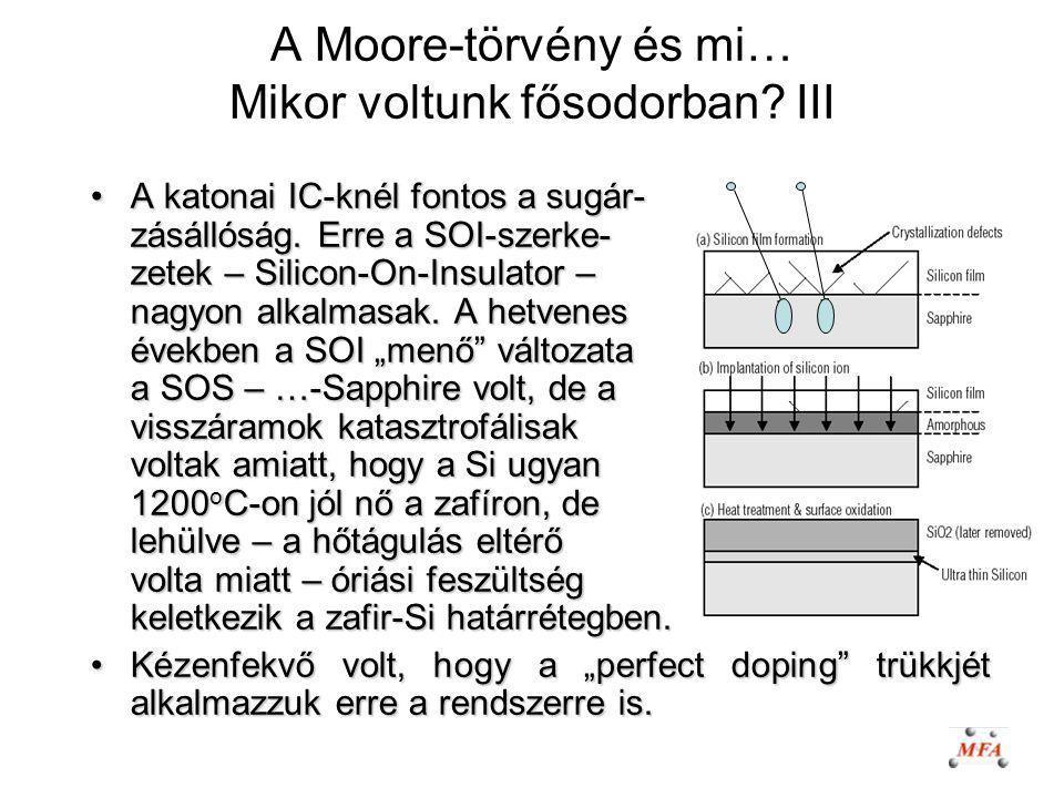 A Moore-törvény és mi… Mikor voltunk fősodorban III