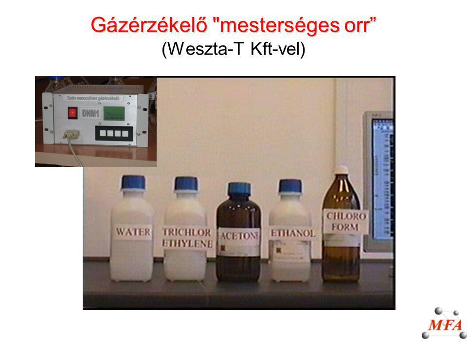 Gázérzékelő mesterséges orr (Weszta-T Kft-vel)