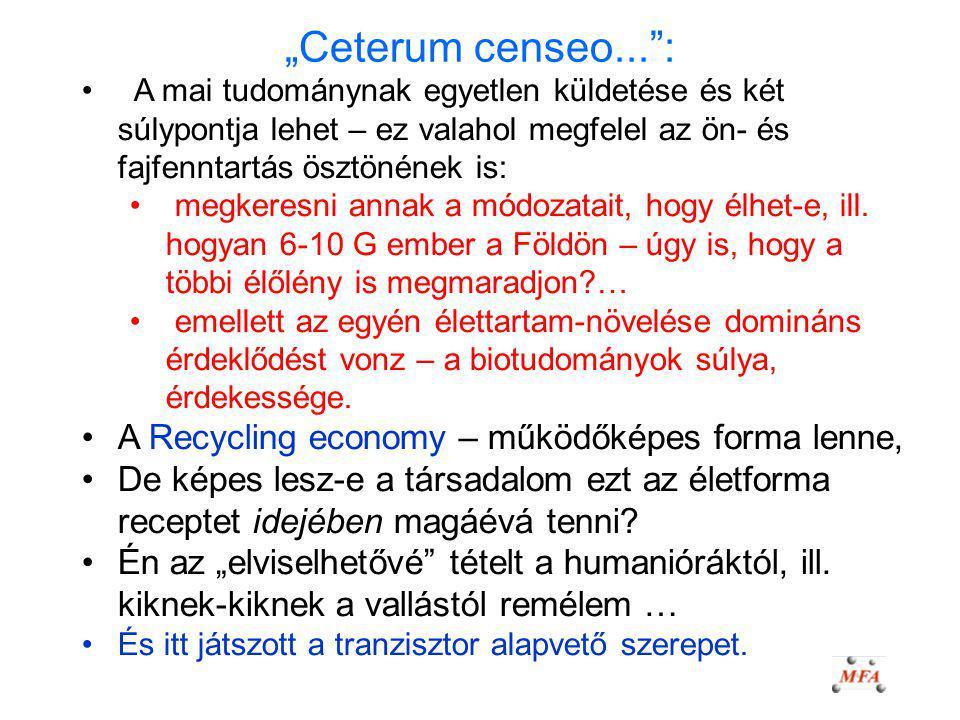 """""""Ceterum censeo... : A Recycling economy – működőképes forma lenne,"""