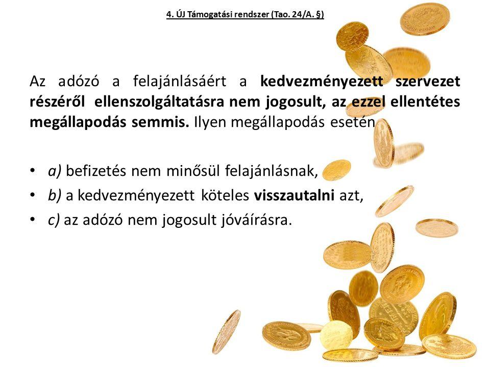 4. ÚJ Támogatási rendszer (Tao. 24/A. §)