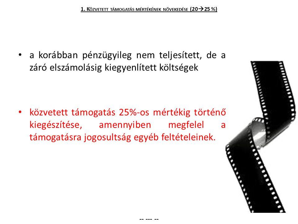 1. Közvetett támogatás mértékének növekedése (2025 %)