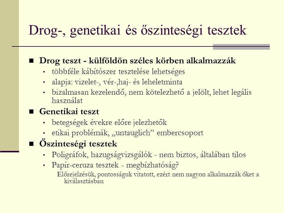 Drog-, genetikai és őszinteségi tesztek
