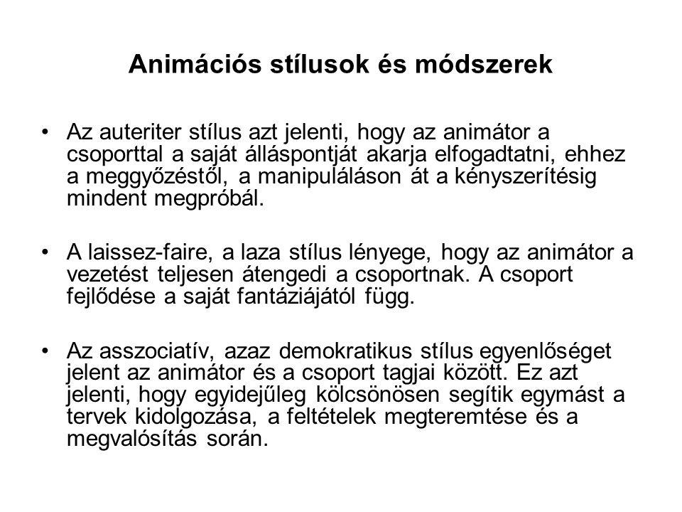Animációs stílusok és módszerek