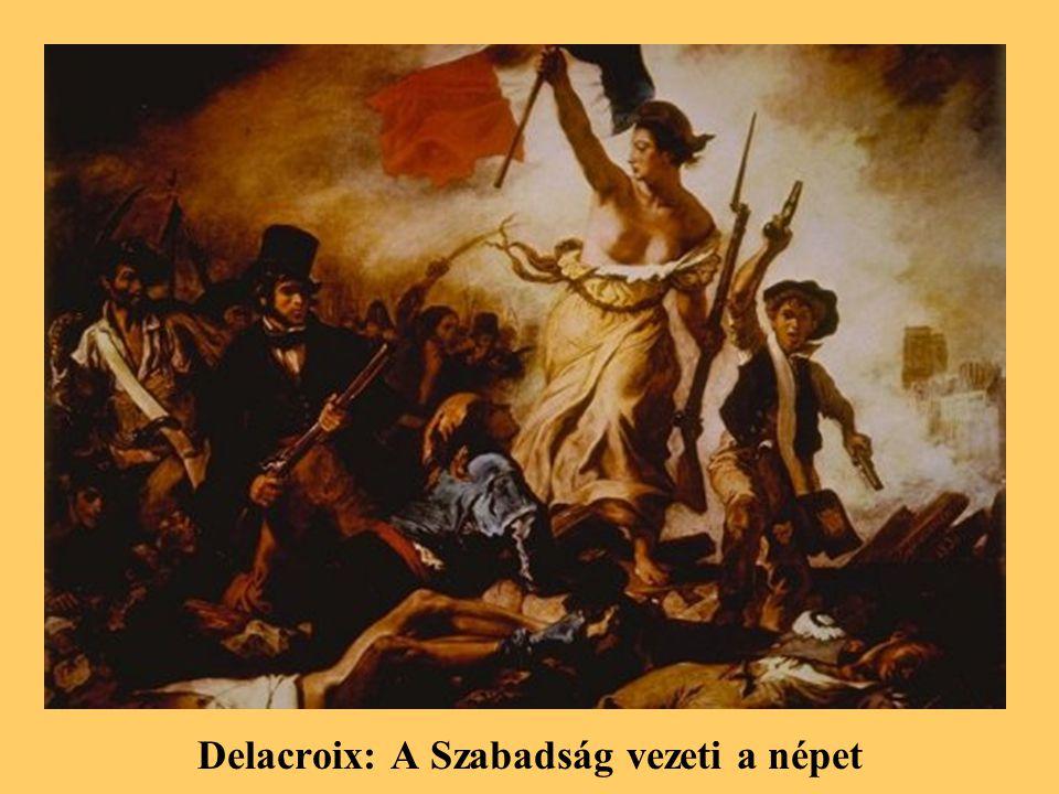 Delacroix: A Szabadság vezeti a népet