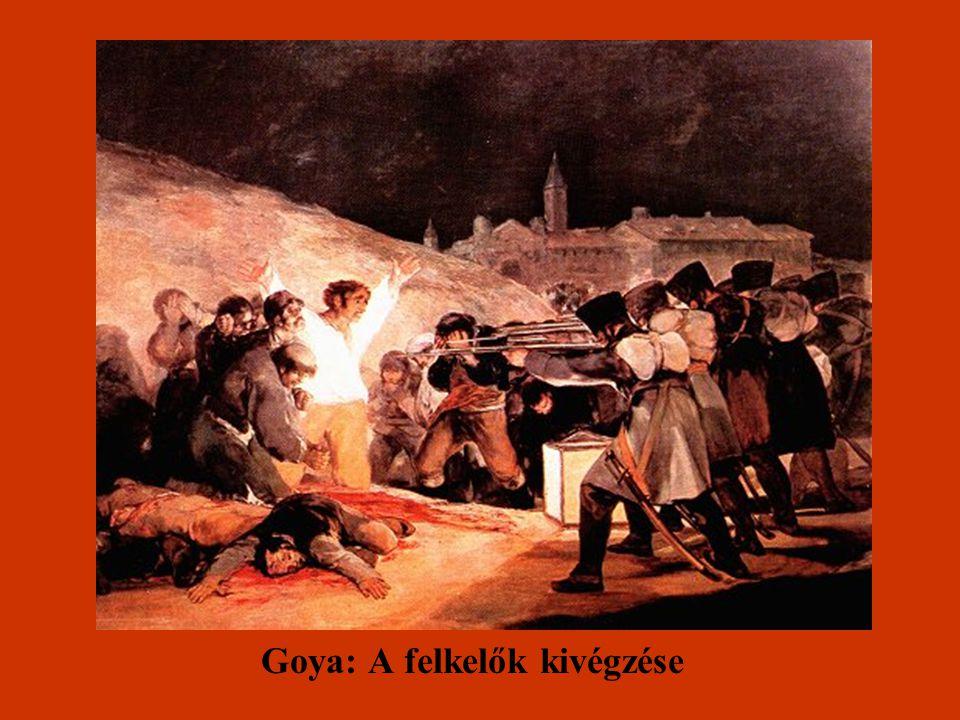 Goya: A felkelők kivégzése