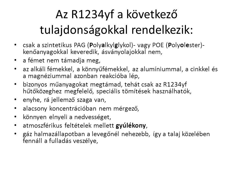 Az R1234yf a következő tulajdonságokkal rendelkezik:
