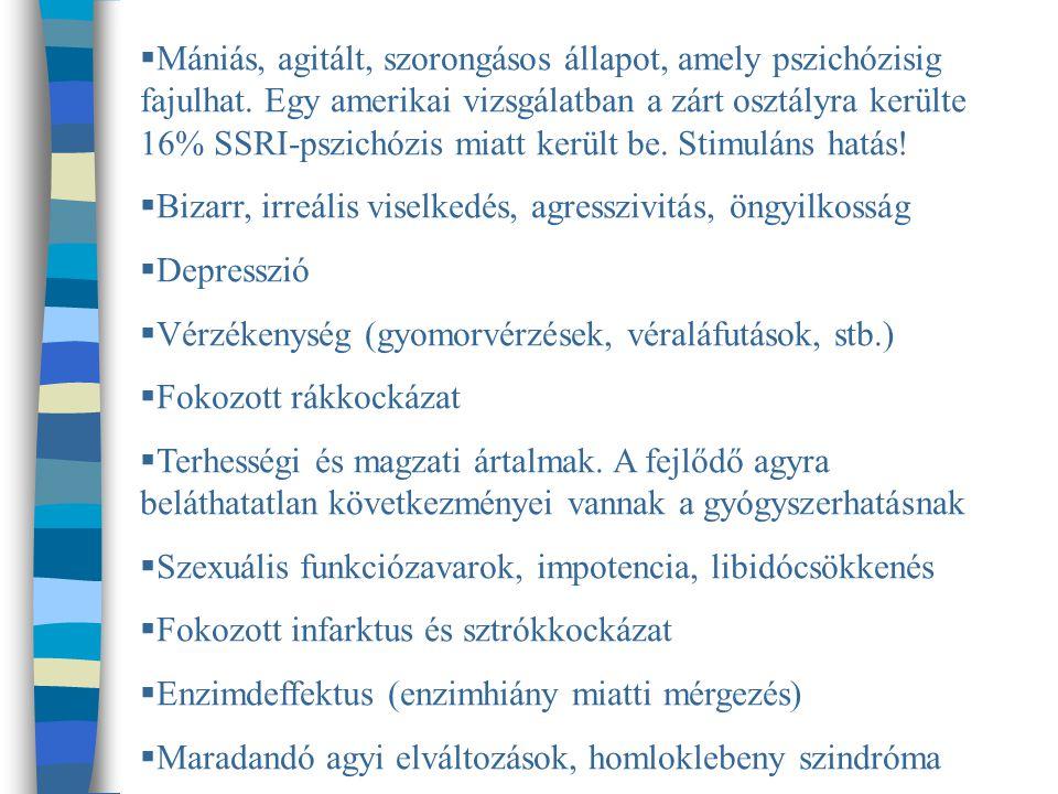 Mániás, agitált, szorongásos állapot, amely pszichózisig fajulhat