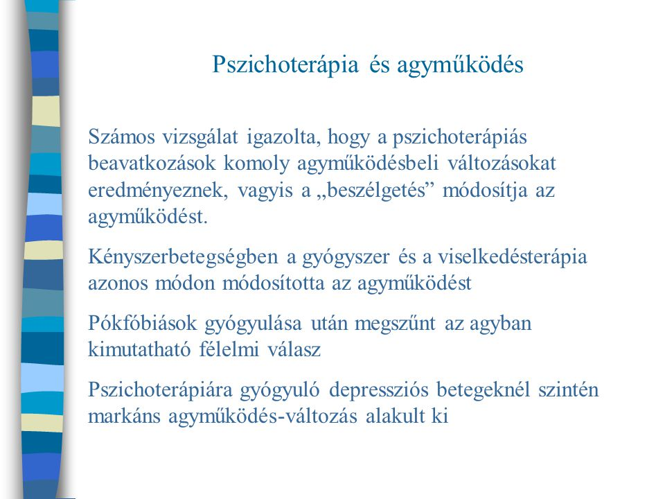Pszichoterápia és agyműködés
