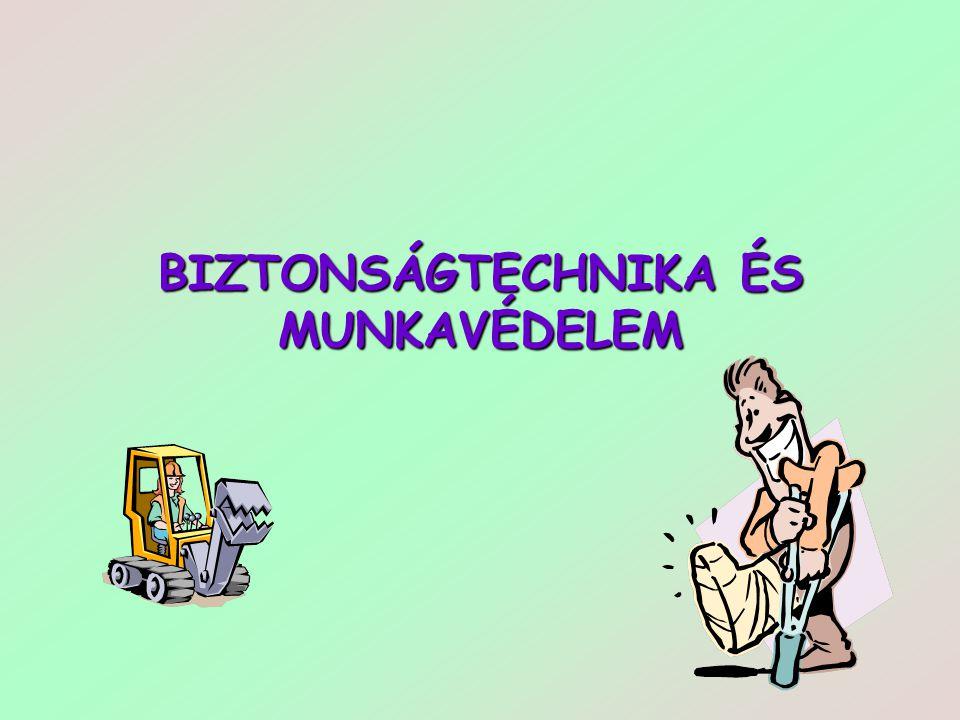 BIZTONSÁGTECHNIKA ÉS MUNKAVÉDELEM
