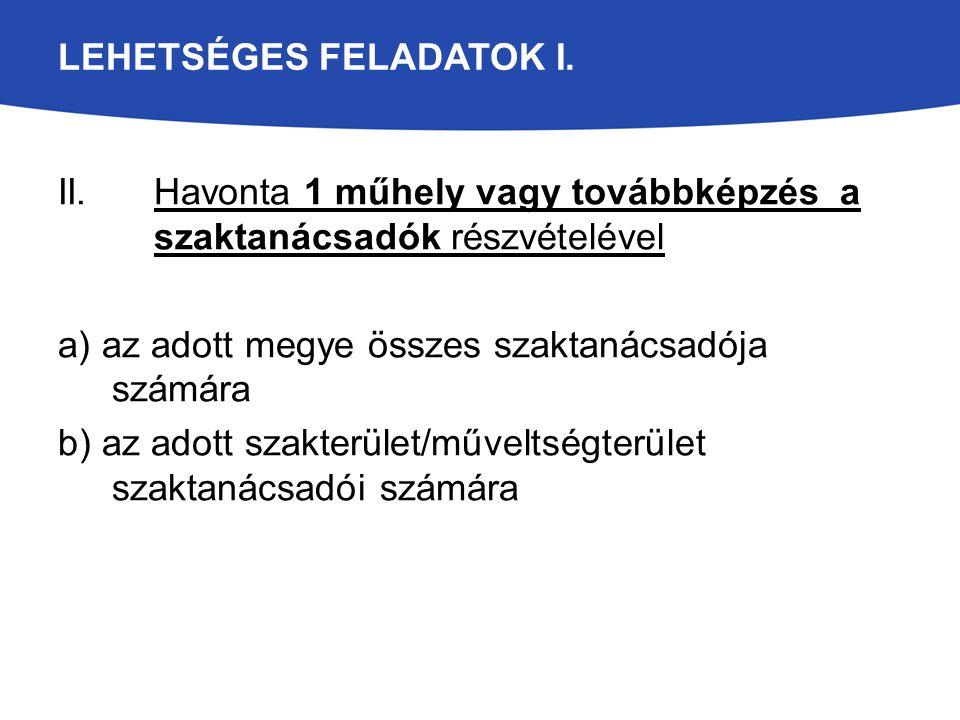 LEHETSÉGES FELADATOK I.