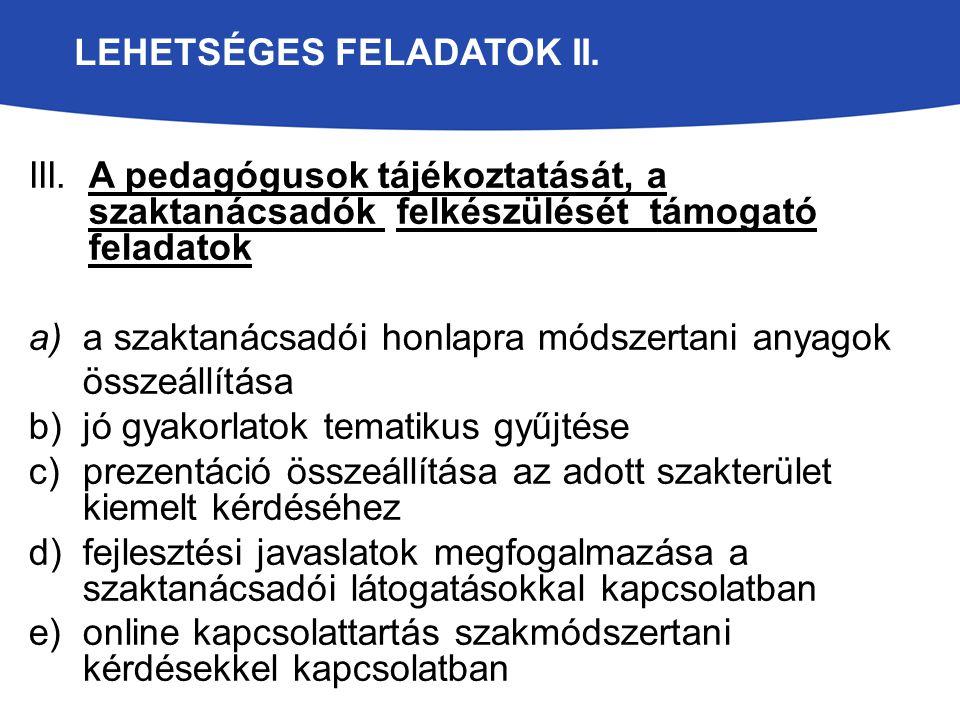 LEHETSÉGES FELADATOK II.