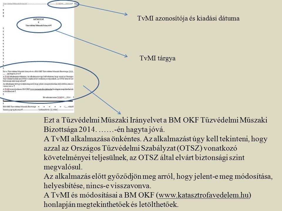TvMI azonosítója és kiadási dátuma