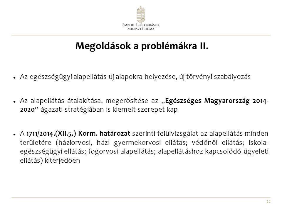 Megoldások a problémákra II.