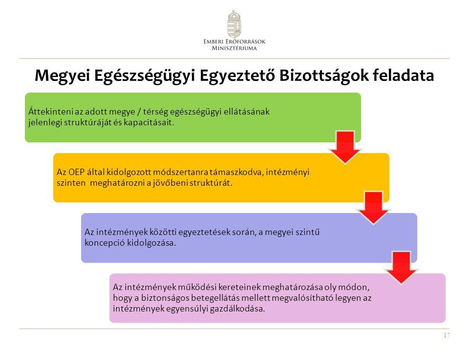 Megyei Egészségügyi Egyeztető Bizottságok feladata