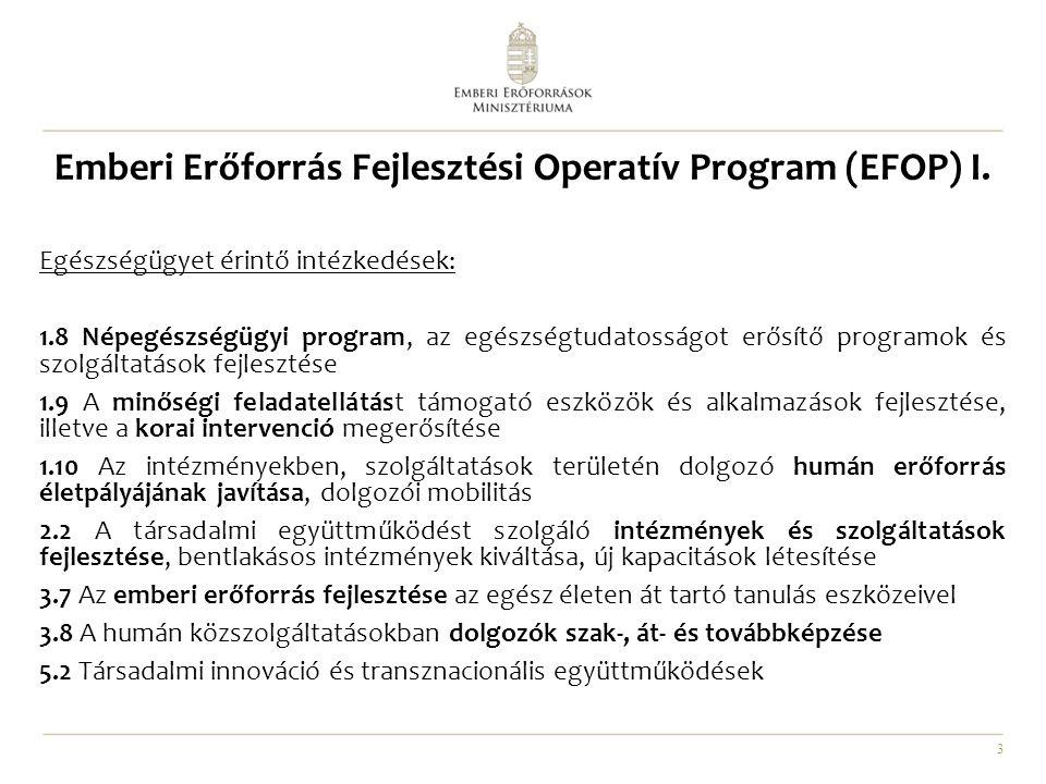 Emberi Erőforrás Fejlesztési Operatív Program (EFOP) I.