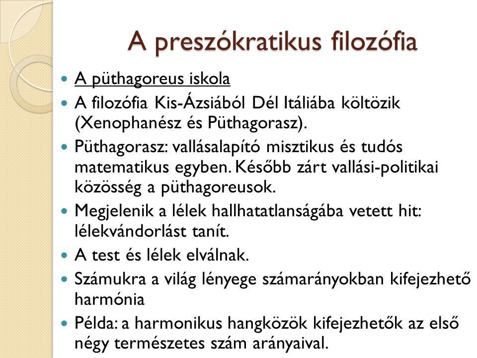 A preszókratikus filozófia
