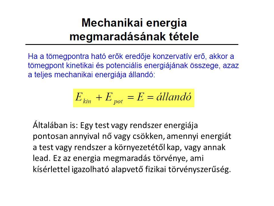 Az energia megmaradása