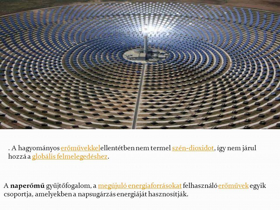 . A hagyományos erőművekkelellentétben nem termel szén-dioxidot, így nem járul hozzá a globális felmelegedéshez.
