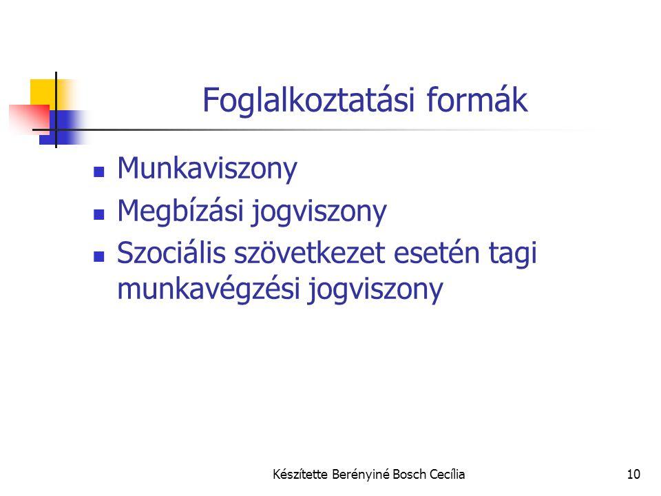 Foglalkoztatási formák