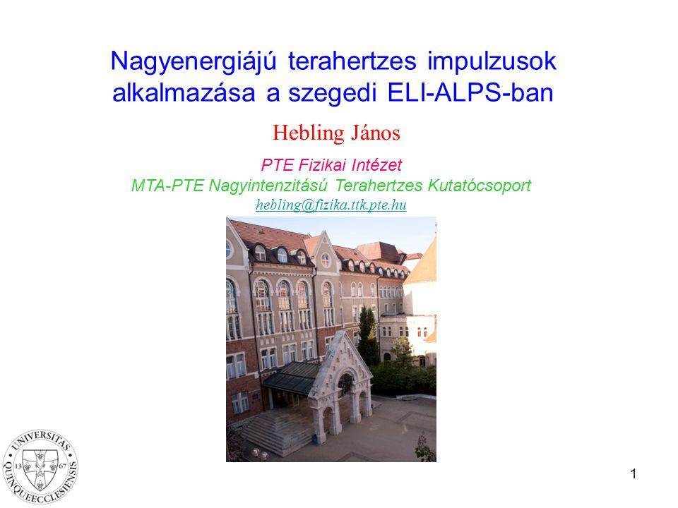 MTA-PTE Nagyintenzitású Terahertzes Kutatócsoport