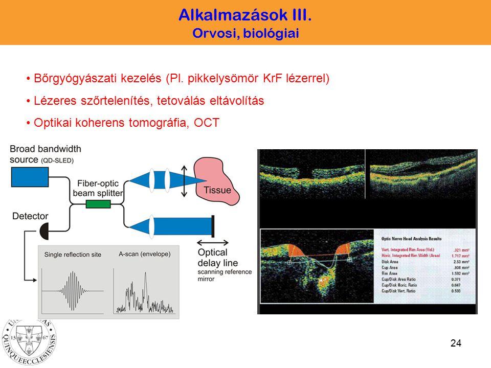 Alkalmazások III. Orvosi, biológiai