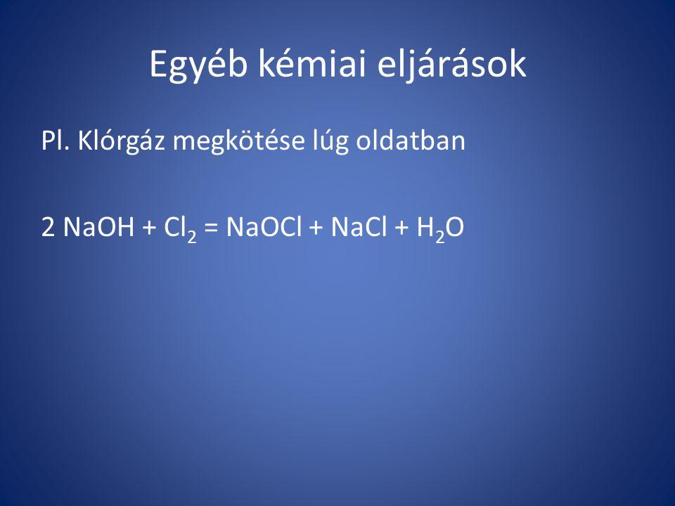 Egyéb kémiai eljárások