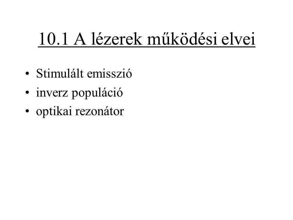 10.1 A lézerek működési elvei