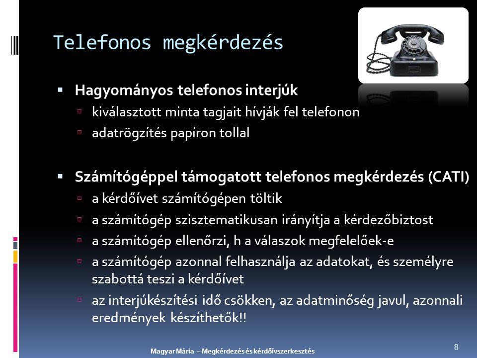Telefonos megkérdezés