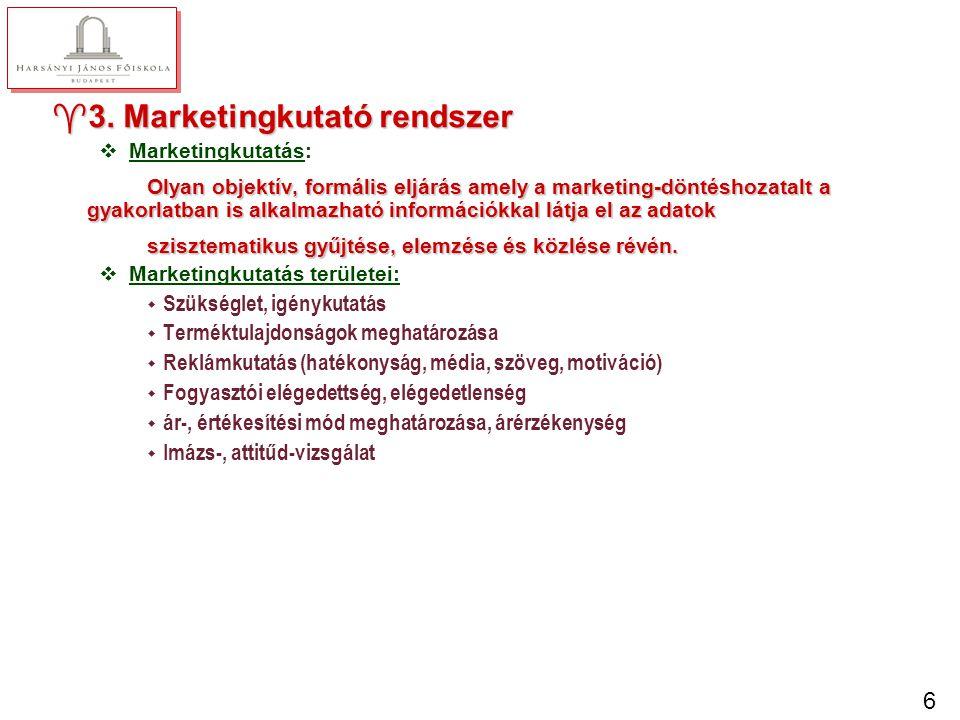 4. Marketing-döntéstámogató rendszer