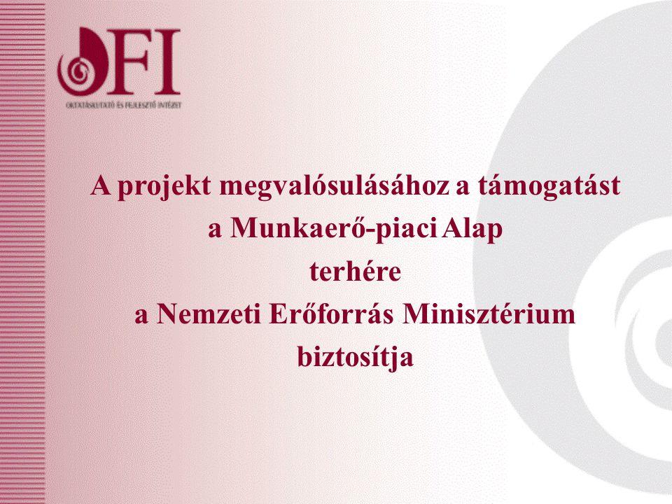 A projekt megvalósulásához a támogatást a Munkaerő-piaci Alap terhére