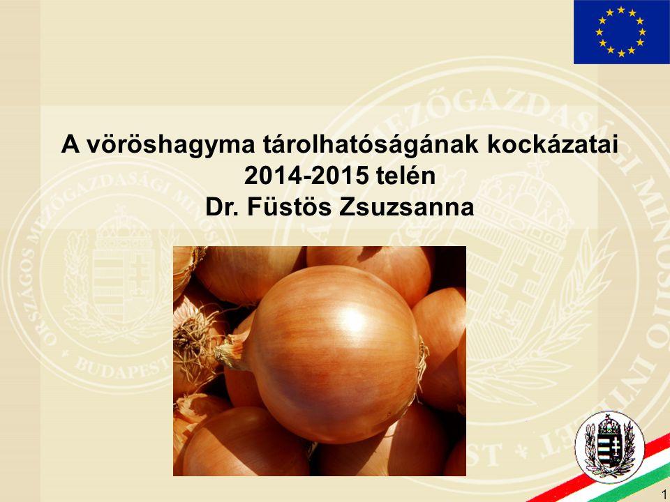 A vöröshagyma tárolhatóságának kockázatai 2014-2015 telén