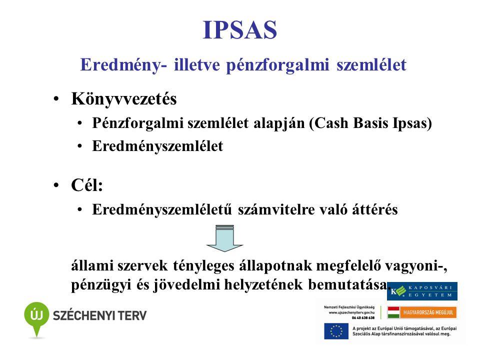 IPSAS Eredmény- illetve pénzforgalmi szemlélet