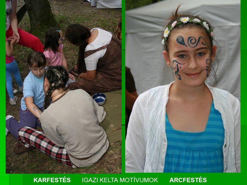 KARFESTÉS IGAZI KELTA MOTÍVUMOK ARCFESTÉS