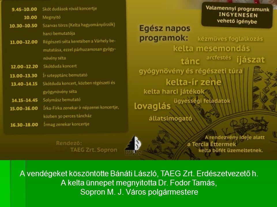 A vendégeket köszöntötte Bánáti László, TAEG Zrt. Erdészetvezető h.