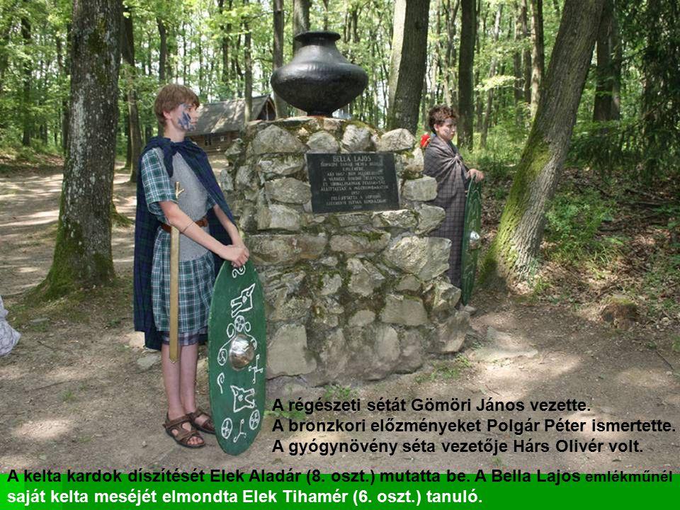 A régészeti sétát Gömöri János vezette.