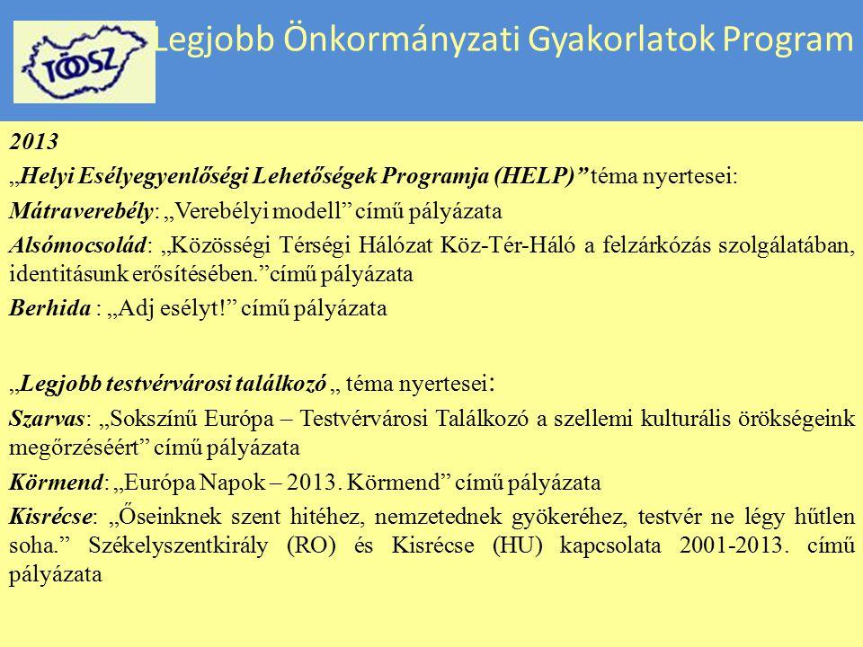 Legjobb Önkormányzati Gyakorlatok Program