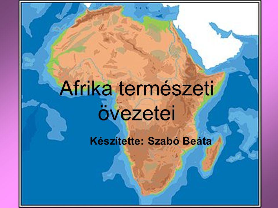 Afrika természeti övezetei