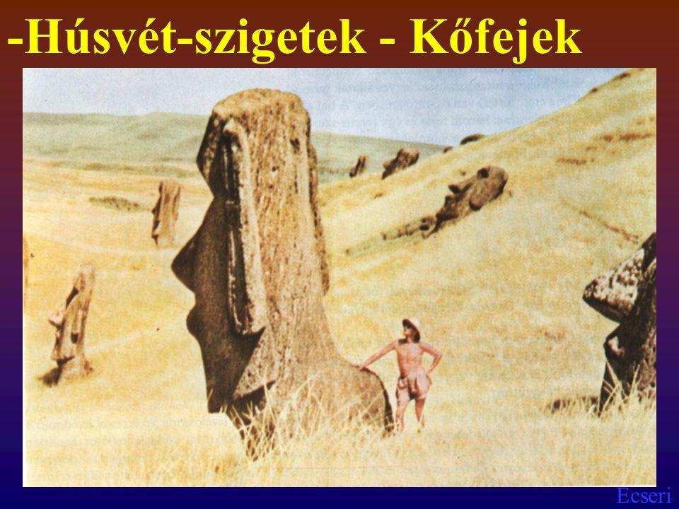 -Húsvét-szigetek - Kőfejek