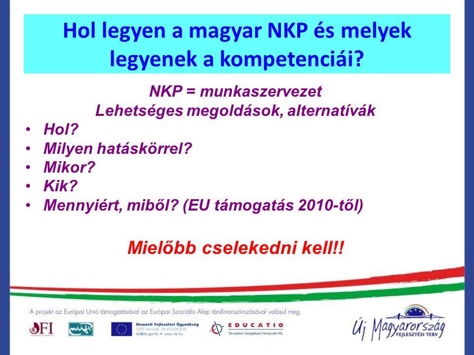 Hol legyen a magyar NKP és melyek legyenek a kompetenciái