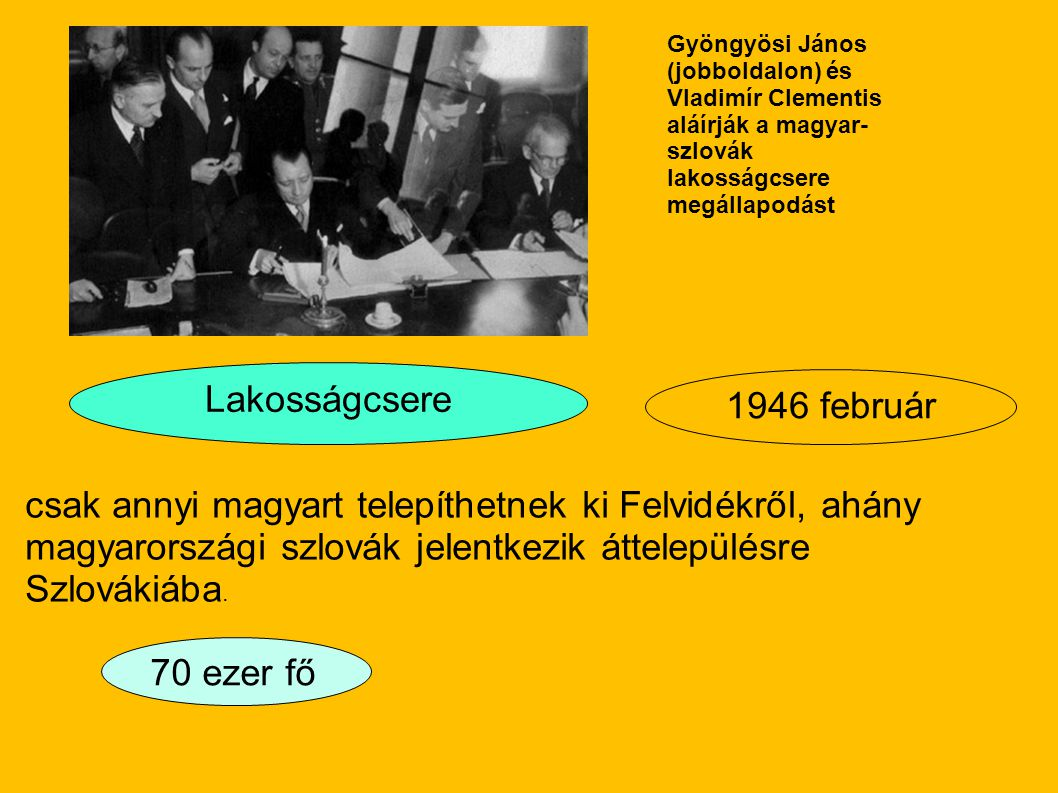Lakosságcsere 1946 február