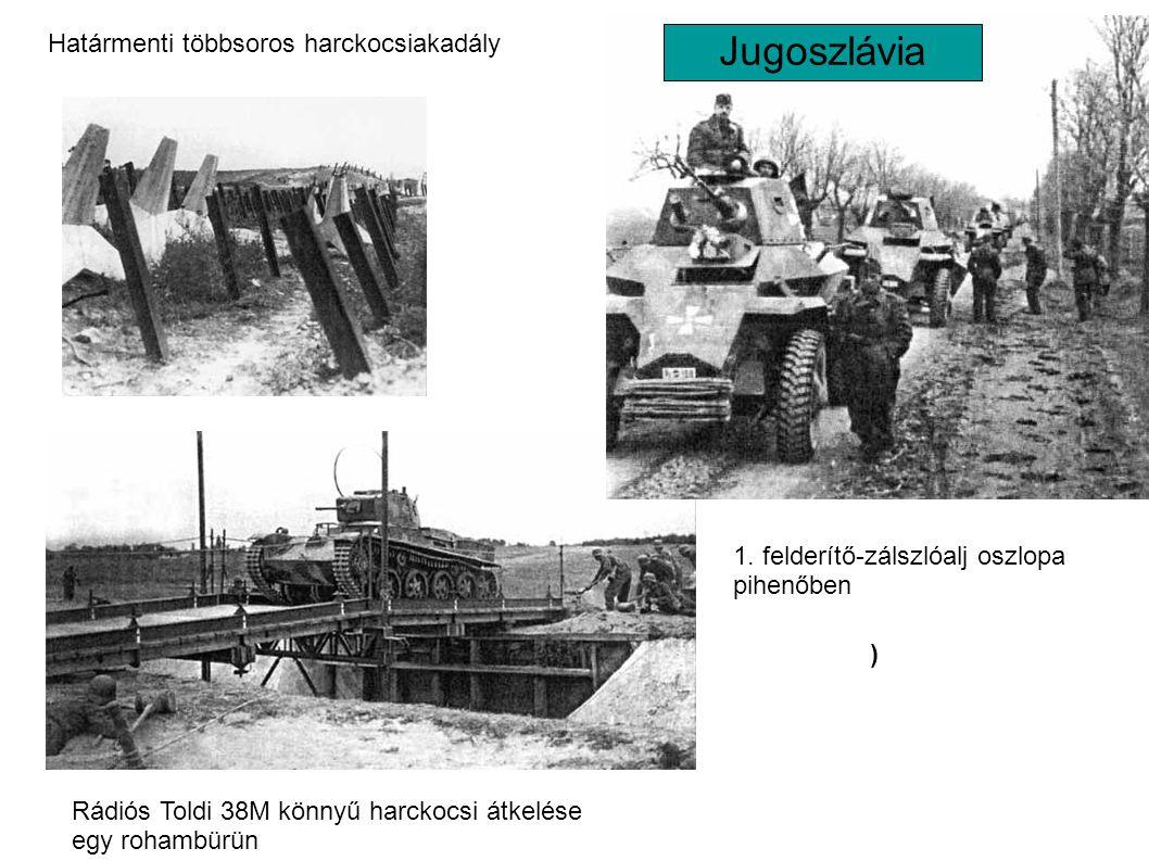 Jugoszlávia Határmenti többsoros harckocsiakadály